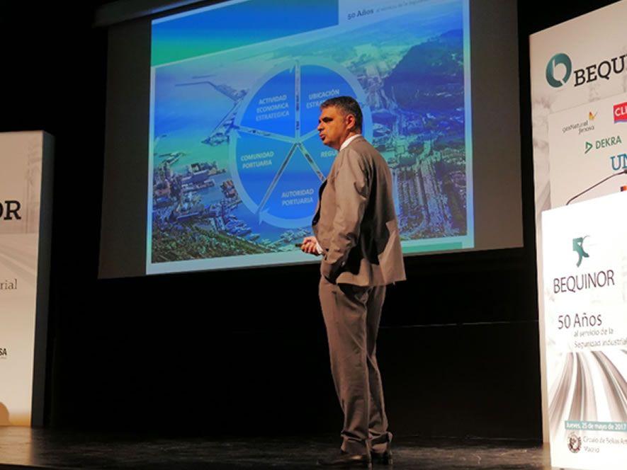 D. Arturo Ricarte, Director de Seguridad, Salud y Medio Ambiente de TERMINALES PORTUARIAS, S.L.