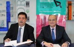 Javier Giner,  Presidente de BEQUINOR,  y el Director General de AENOR, Avelino Brito.